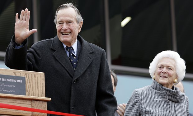 George HW Bush and wife Barbara hospitalized in Texas & Will Not be Attending Trump's Inauguration