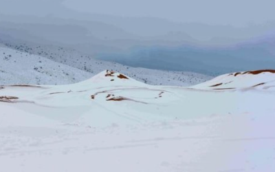 Freak heavy snowfall hits the Sahara desert; up to one metre deep