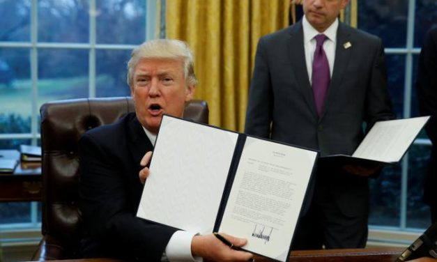 Trump signs order withdrawing U.S. from Trans-Pacific trade deal