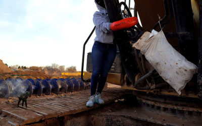 Texas Water Protector Locks Herself to Construction Equipment
