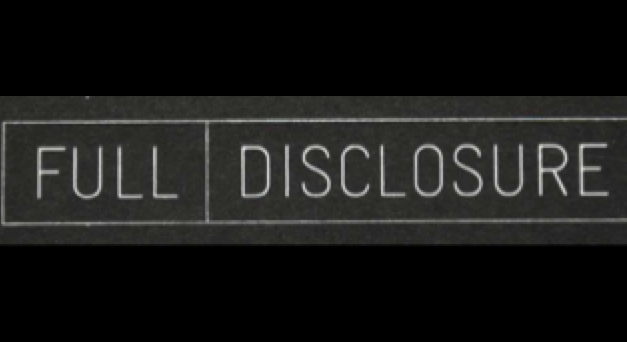 It Appears Partial Disclosure is Rolling Out