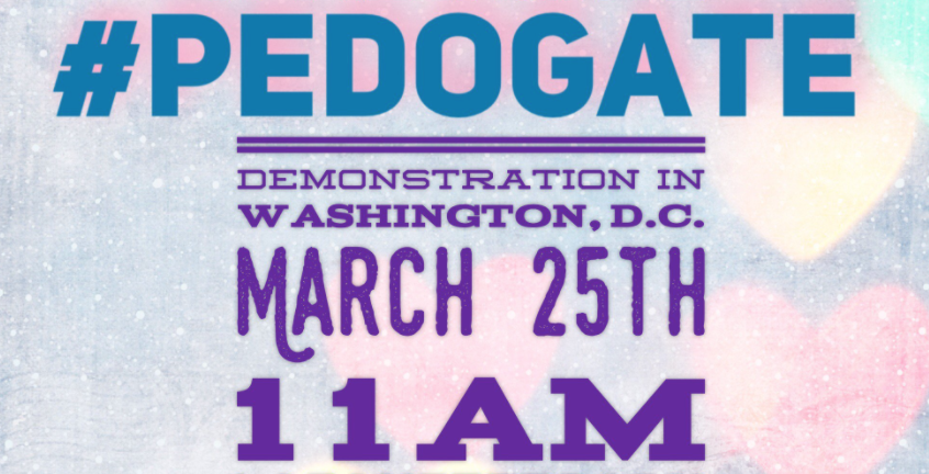 Pedogate Protest Washington D.C. March 25th at 11:00am