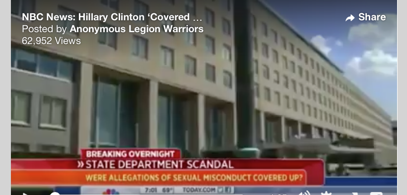 NBC News: Hillary Clinton 'Covered Up' Pedophile Ring At State Department