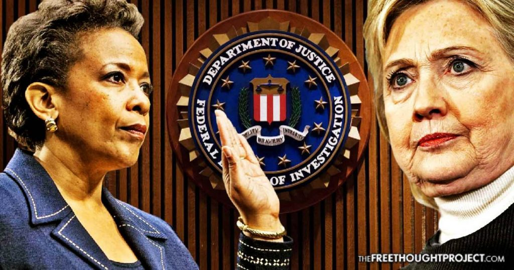 FBI Email Exposes Attorney General Promise To Protect Hillary Clinton From Criminal Charges