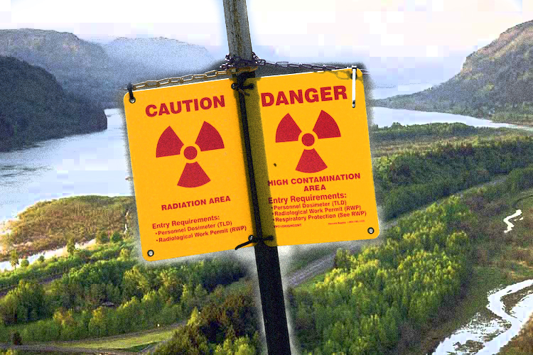 RADIOACTIVE WASTE FLOWING FREELY INTO COLUMBIA RIVER BECAUSE THERE'S NO MONEY TO STOP IT