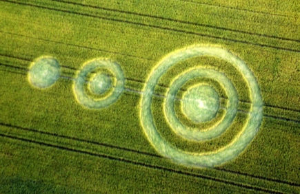 Interactive Experiments With Crop Circles