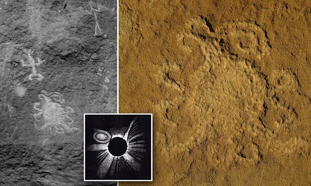 1,000-year-old Petroglyph at Chaco Canyon represents ancient Total Eclipse