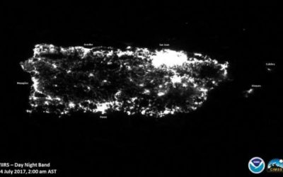 """Dramatic """"Before And After"""" Photos Show Puerto Rico's Plunge Into Darkness"""