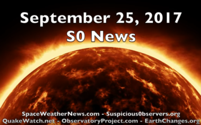 Sunspots, Cosmic Rays, Storms | S0 News Sept.25.2017 [VIDEO]