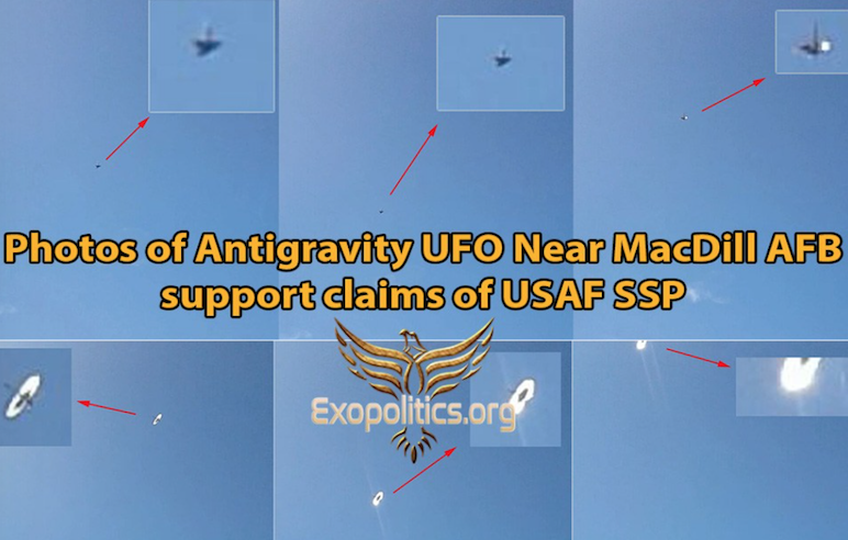 Photos of Antigravity UFO Near MacDill AFB support claims of USAF SSP