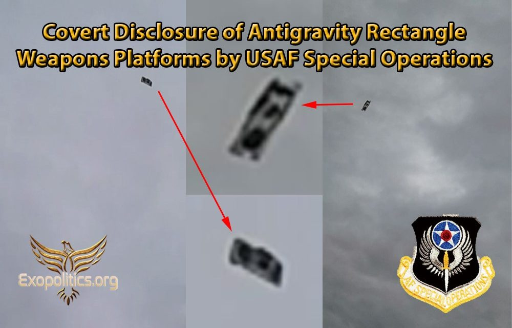 Covert Disclosure of Antigravity Rectangle Weapons Platforms by USAF Special Operations