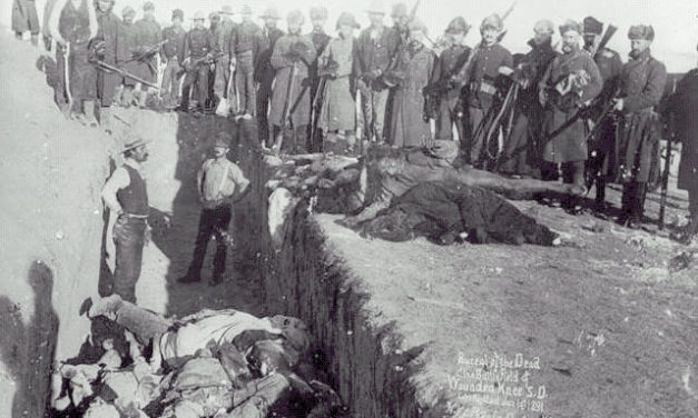 The largest mass shooting in American History is in fact the Wounded Knee Massacre, where hundreds of Lakota were slaughtered by the government