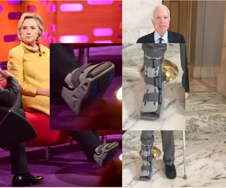 "John McCain and Hillary Clinton in orthopedic boots?… (or, ""a bit of confirmation for the Ben Fulford and David Wilcock recent (11-12-17) posts"")"