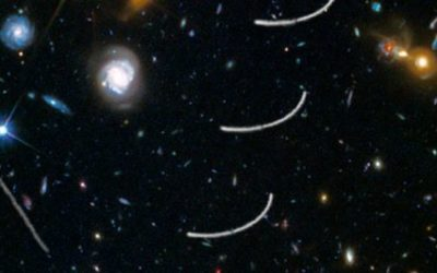 Mitch Battros – Hubble Sees Nearby Asteroids Photobombing Distant Galaxies