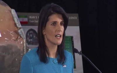 Food and medicine can't get passed the Saudi blockade on Yemen, but Nikki Haley thinks missiles can