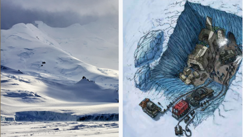 EVIDENCE OF AN ALIEN OR LOST CIVILIZATION IN ANTARCTICA?