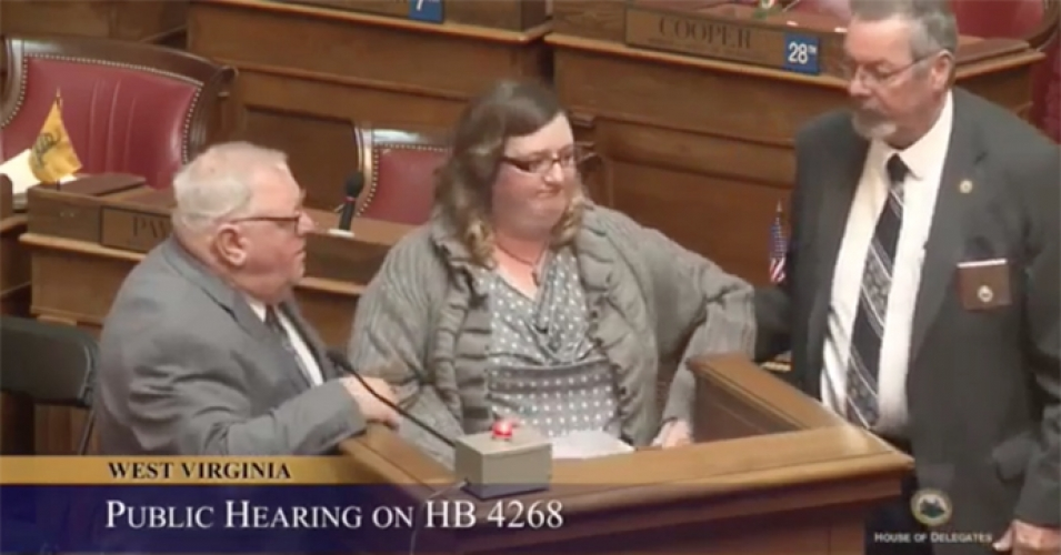 Woman Dragged Out of West Virginia House Hearing For Listing Oil and Gas Contributions to Members