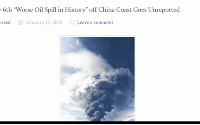 Worst Oil Spill in History Goes Unreported off China Coast [VIDEO]
