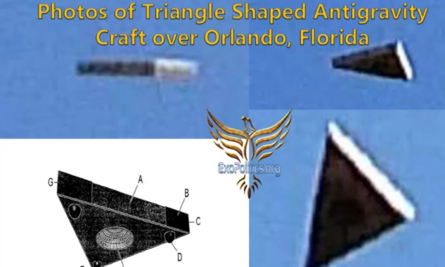 Dr. Michael Salla – Photos of Triangle Shaped Antigravity Craft over Orlando, Florida