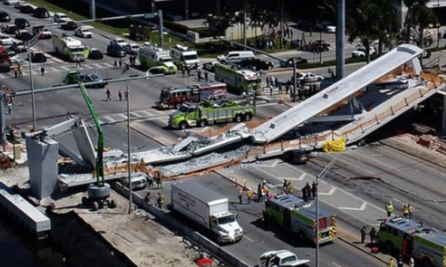 Pedestrian Bridge Collapses at Miami Florida International University – Cars Crushed and Casualties Reported