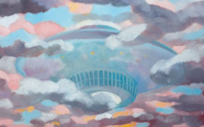 AFTER SEEING EXTRATERRESTRIALS & A UFO, THIS ARTIST IS DELIVERING A MESSAGE FROM SPACE