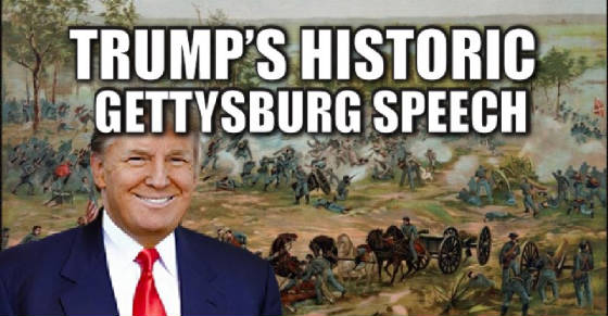 Trump's Gettysburg Address against the New World Order
