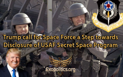 Dr Michael Salla: Trump call for Space Force a Step towards Disclosure of USAF Secret Space Program