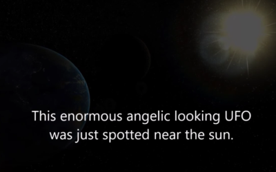 Huge Angelic Looking UFO Spotted Near the Sun on SOHO [VIDEO]