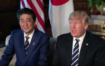 President Trump has a 1:1 bilateral meeting with the Prime Minister of Japan [VIDEO]