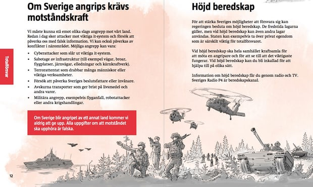 Sweden distributes 'be prepared for war' leaflet to all 4.8m homes