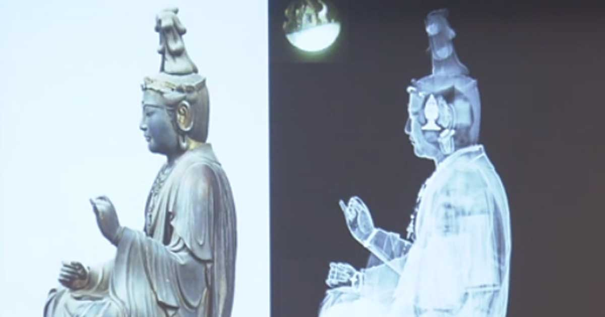 Hoard of Scrolls and Artifacts Discovered in Antique Japanese Statuette