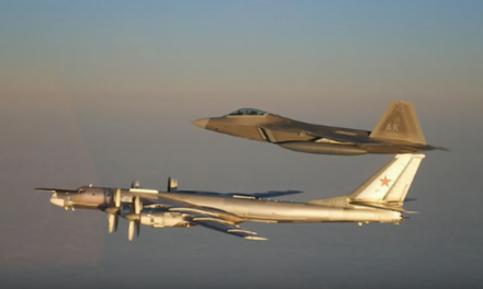 Russian Strategic Bombers Escorted by US F-22 Over Neutral Arctic Waters [VIDEO]