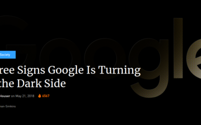 Three Signs Google Is Turning to the Dark Side