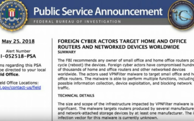 FBI Warns of Foreign Cyber Actors Targeting Home, Office Routers and Networked Devices Worldwide [VIDEO]