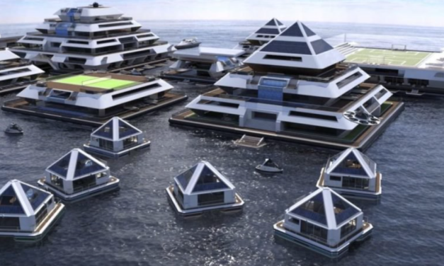 Floating Pyramid City Generates 100% of Its Own Food, Water and Electricity