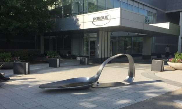 Artist Charged w/Felony for Leaving 10-Foot Heroin Spoon at OxyContin Co.