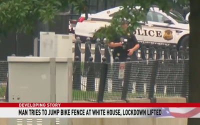 Man charged after jumping White House security barrier leaving backpack on grounds