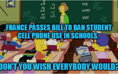 France Passes Bill to Ban Student Cell Phone Use in Schools. Don't You Wish Everybody Would?