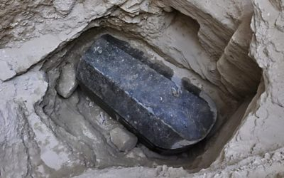 Archaeologists prepare to open huge granite sarcophagus in Egypt
