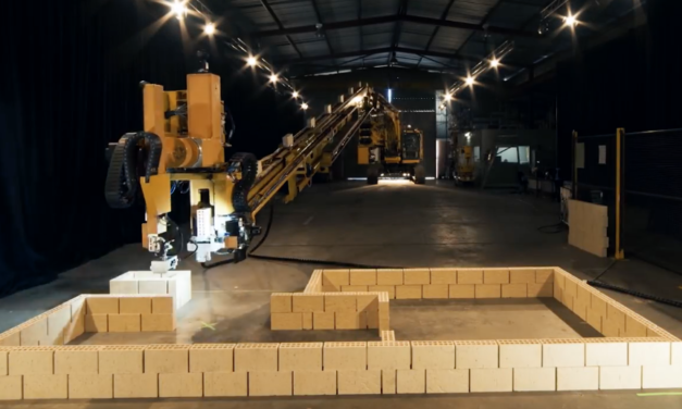 Meet Hadrian, The Brick Laying Robot That Will Make Construction Workers Obsolete