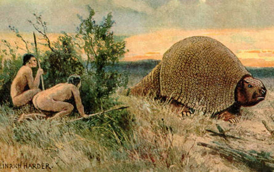 The Glyptodon Was A Prehistoric Armadillo So Big That Early Humans Used Its Shells For Shelters