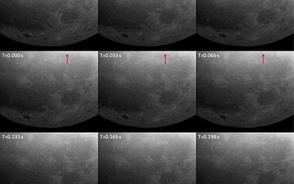 MIDAS cameras spot pair of lunar flashes caused by meteoroid impacts