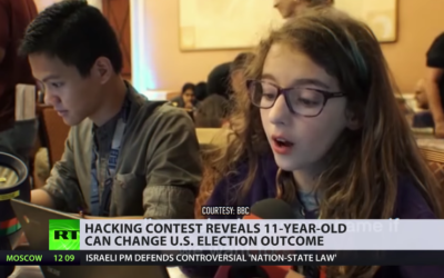 Very secure system… not: 11yo can change US election outcome (and no, she's NOT from Russia) [VIDEO]