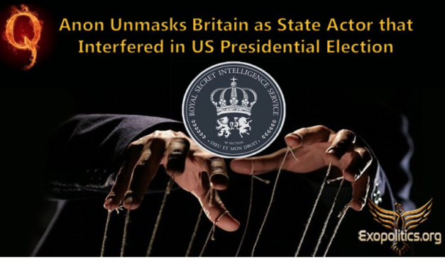 QAnon Unmasks Britain as State Actor that Interfered in US Presidential Election