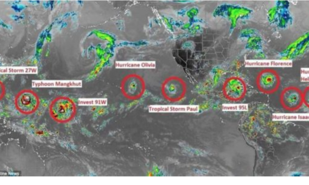A Record 7 Named Storms Are Swirling Across The Globe – Has 'The Day After Tomorrow' Arrived?