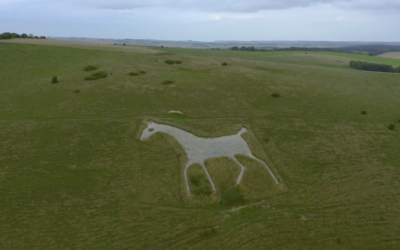 Flight from the Alton Barnes White Horse to the Barge Inn  [VIDEO]