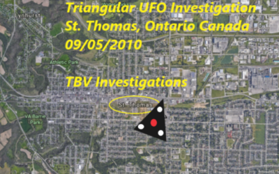 Triangular UFOs over St. Thomas, Ontario, Canada – Witness Experiences Physical Markings