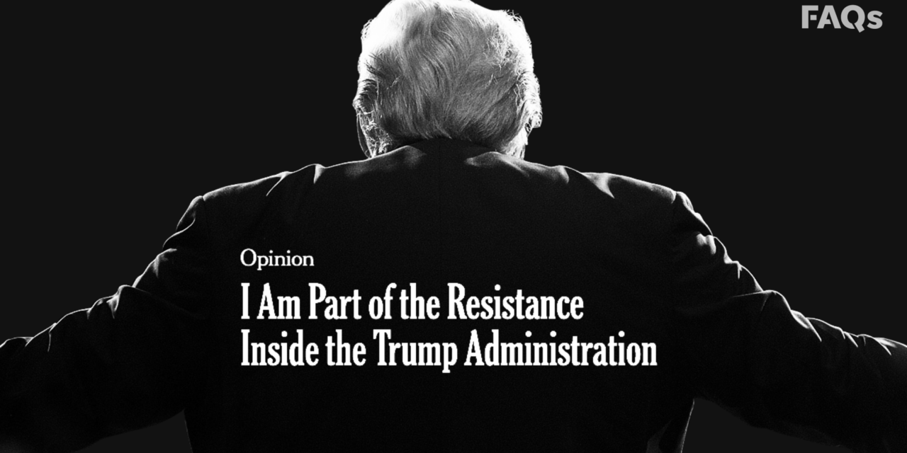 Anonymous White House Staffer's New York Times Op-Ed: The Deep State Antidote To Q?