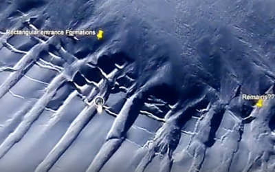 ANTARCTICA:EXPOSED VEINS OF GOLD — ENORMOUS TUNNEL COMPLEX — MILE WIDE ANCIENT FORTRESS [2VIDEOs]