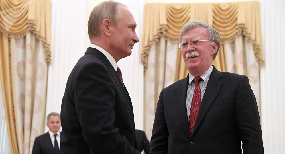 Putin to Bolton: Russia Surprised With Unfriendly US Moves